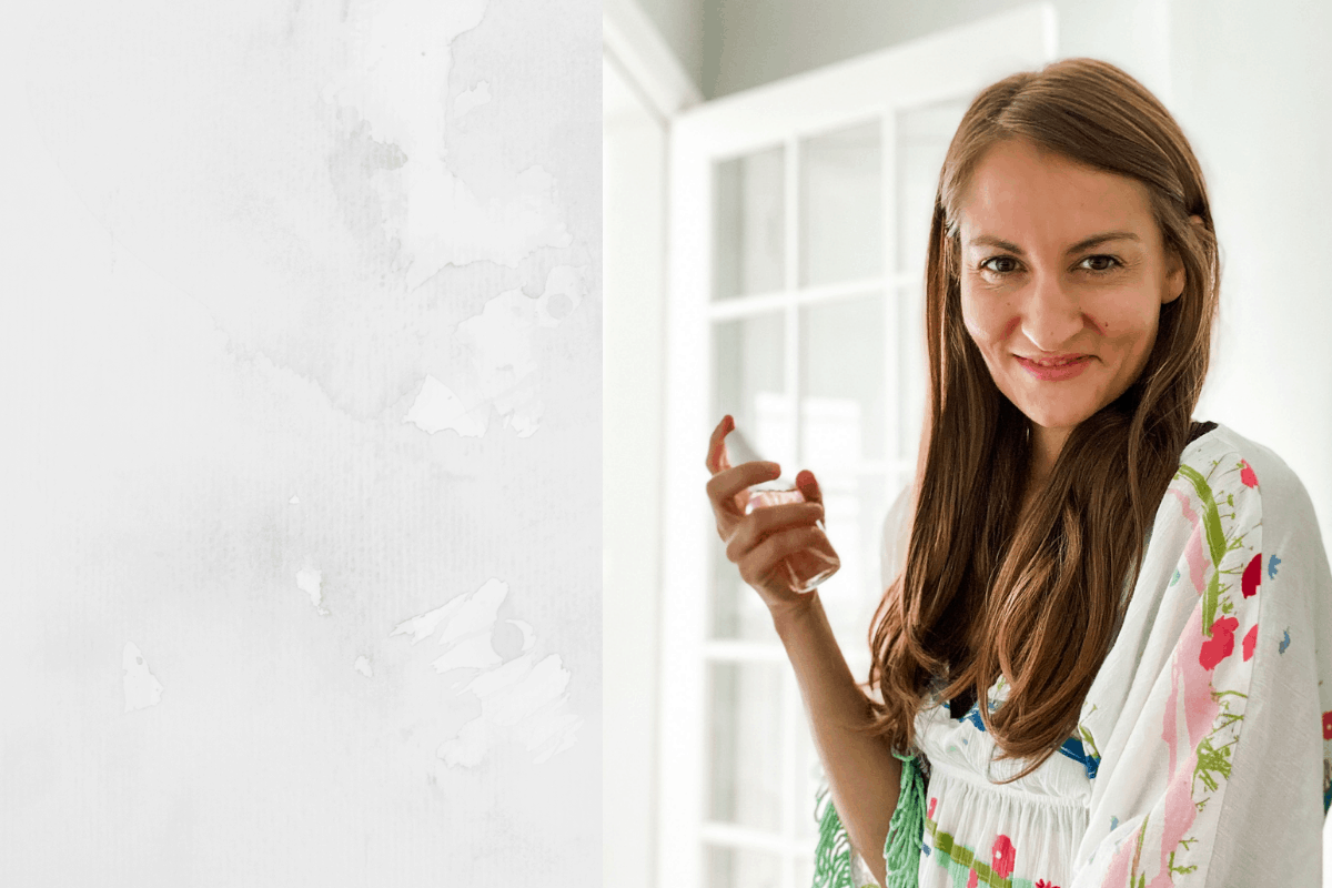 woman holding toner